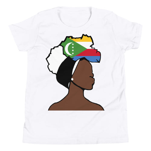 Comoros Head Wrap Queen Youth Premium Tee