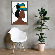 Bahamas Head Wrap Queen Framed Poster