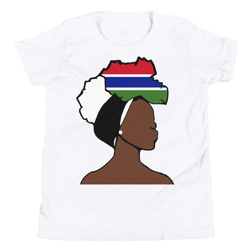 Gambia Head Wrap Queen Youth Premium Tee