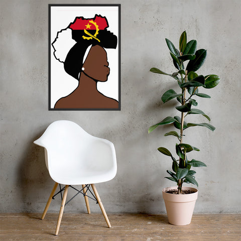 Angola Head Wrap Queen Framed Poster