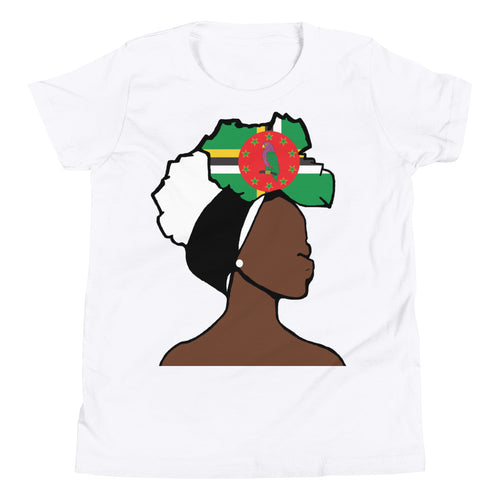 Dominica Head Wrap Queen Youth Premium Tee