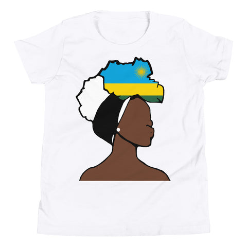 Rwanda Head Wrap Queen Youth Premium Tee