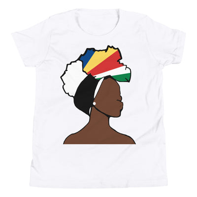 Seychelles Head Wrap Queen Youth Premium Tee