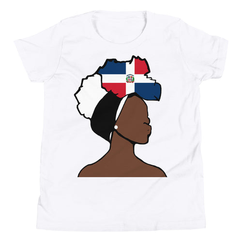 Dominican Republic Head Wrap Queen Youth Premium Tee