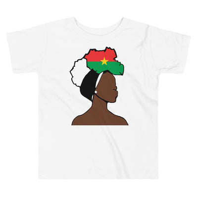 Burkina Faso Head Wrap Queen Toddler Premium Tee