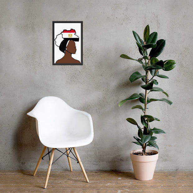 Egypt Head Wrap Queen Framed Poster