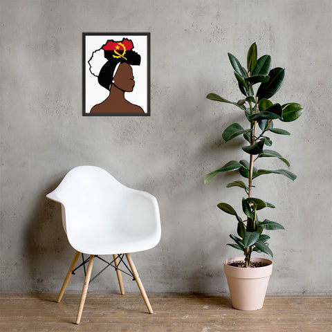 Anguilla Head Wrap Queen Framed Poster