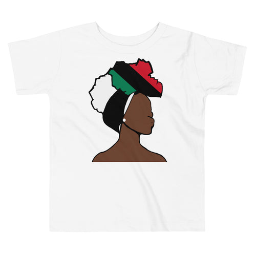 African American Head Wrap Queen Toddler Premium Tee