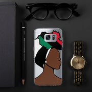 African American Head Wrap Queen Samsung Case