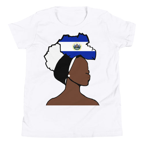 El Salvador Head Wrap Queen Youth Premium Tee
