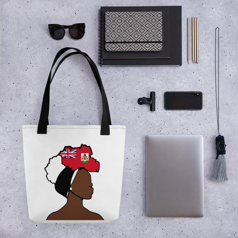 Bermuda Head Wrap Queen Tote Bag