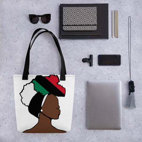 African American Head Wrap Queen Tote Bag