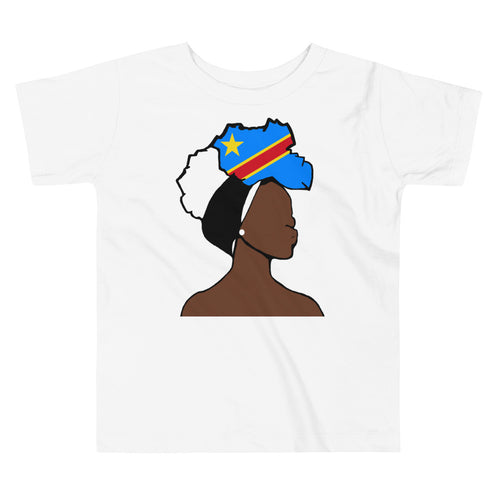 Congo DR Head Wrap Queen Toddler Premium Tee