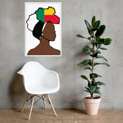 Benin Head Wrap Queen Framed Poster