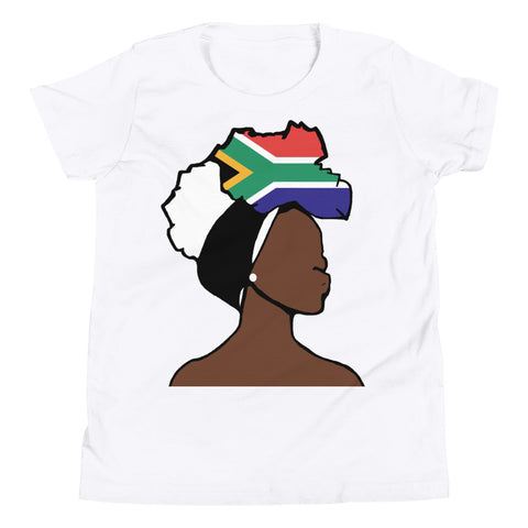 South Africa Head Wrap Queen Youth Premium Tee