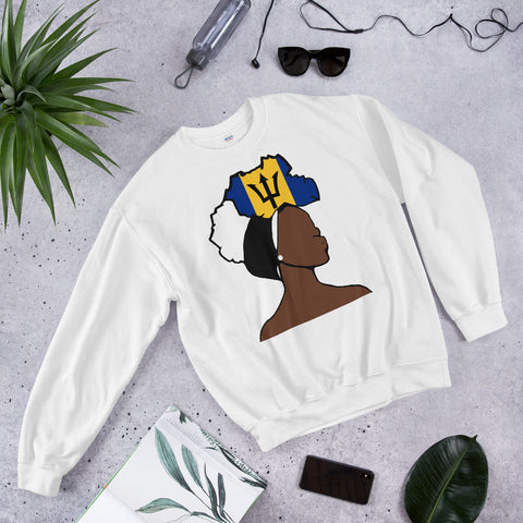 Barbados Head Wrap Queen Unisex Crew Neck Sweatshirt