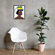 Gabon Head Wrap Queen Framed Poster