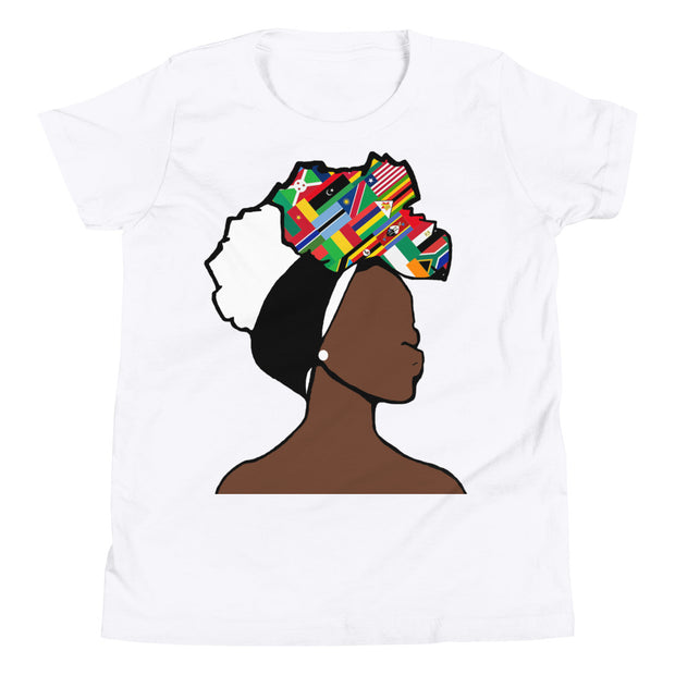 African Countries Head Wrap Queen Youth Premium Tee