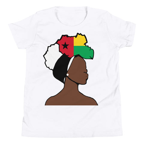 Guinea Bissau Head Wrap Queen Youth Premium Tee