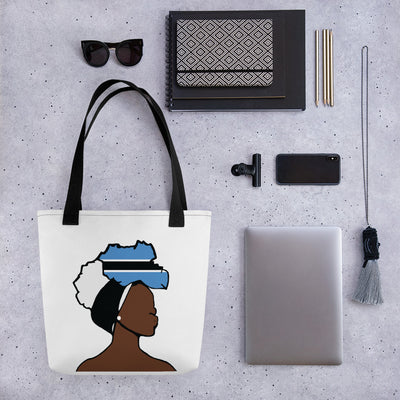 Botswana Head Wrap Queen Tote Bag