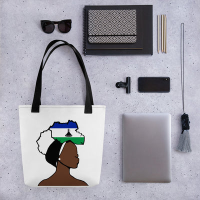 Lesotho Head Wrap Queen Tote Bag