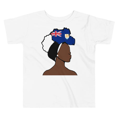 Anguilla Head Wrap Queen Toddler Premium Tee