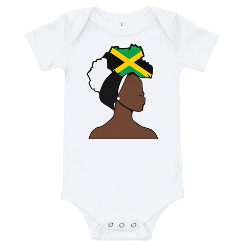 Jamaica Head Wrap Queen Baby Short Sleeve One Piece