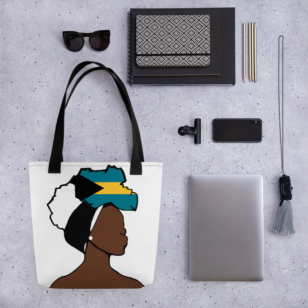 Bahamas Head Wrap Queen Tote Bag