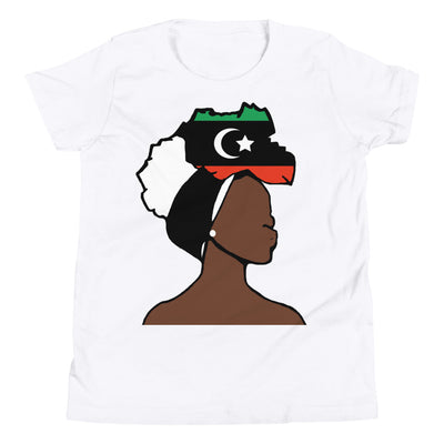 Libya Head Wrap Queen Youth Premium Tee