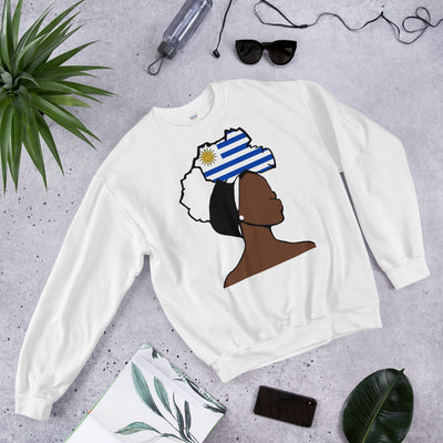 Uruguay Head Wrap Queen Unisex Crew Neck Sweatshirt