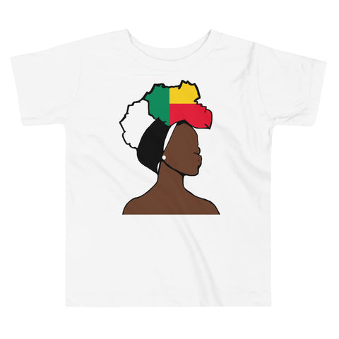 Benin Head Wrap Queen Toddler Premium Tee