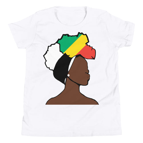 Congo Head Wrap Queen Youth Premium Tee