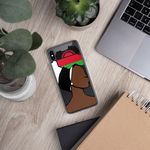 Malawi Head Wrap Queen iPhone Case