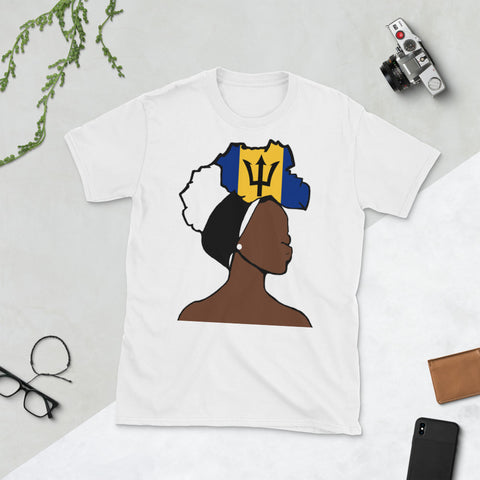 Barbados Head Wrap Queen Unisex T-shirt
