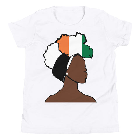 Cote d'Ivoire Head Wrap Queen Youth Premium Tee
