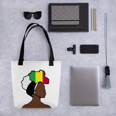 Mali Head Wrap Queen Tote Bag