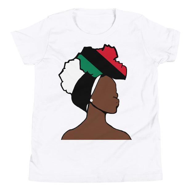 African American Head Wrap Queen Youth Premium Tee