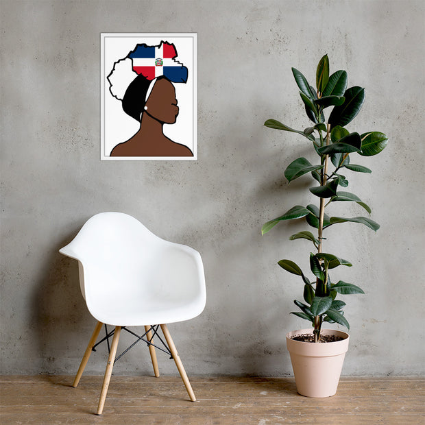 Dominican Republic Head Wrap Queen Framed Poster