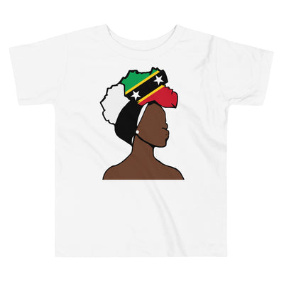 Saint Kitts and Nevis Head Wrap Queen Toddler Premium Tee