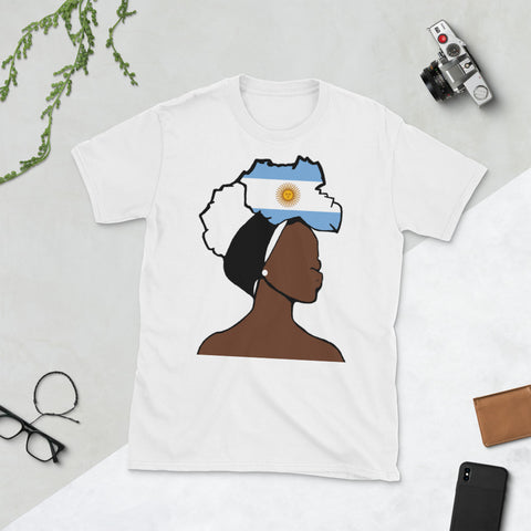 Argentina Head Wrap Queen Unisex T-shirt