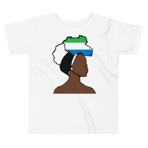 Sierra Leone Head Wrap Queen Toddler Premium Tee