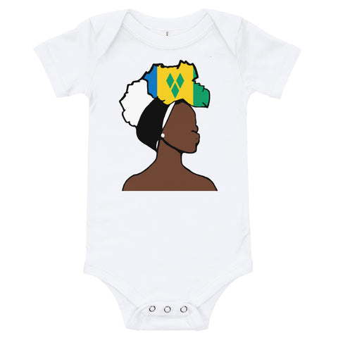 Saint Vincent and the Grenadines Head Wrap Queen Baby Short Sleeve One Piece