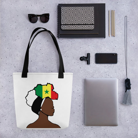 Senegal Head Wrap Queen Tote Bag