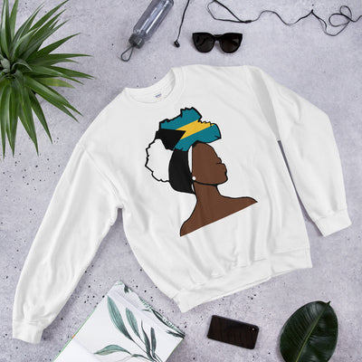Bahamas Head Wrap Queen Unisex Crew Neck Sweatshirt