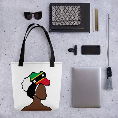 Saint Kitts and Nevis Head Wrap Queen Tote Bag