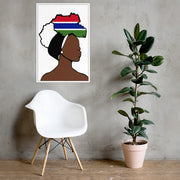 Gambia Head Wrap Queen Framed Poster