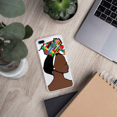 African Countries Head Wrap Queen iPhone Case