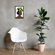 Jamaica Head Wrap Queen Framed Poster
