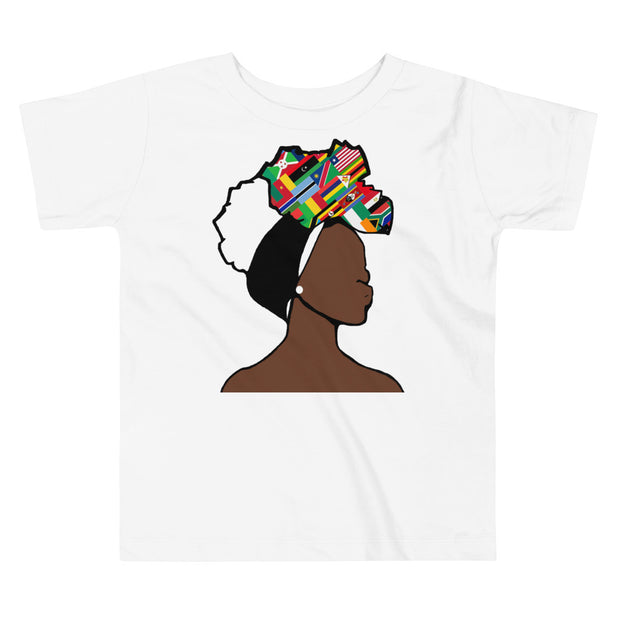 African Countries Head Wrap Queen Toddler Premium Tee