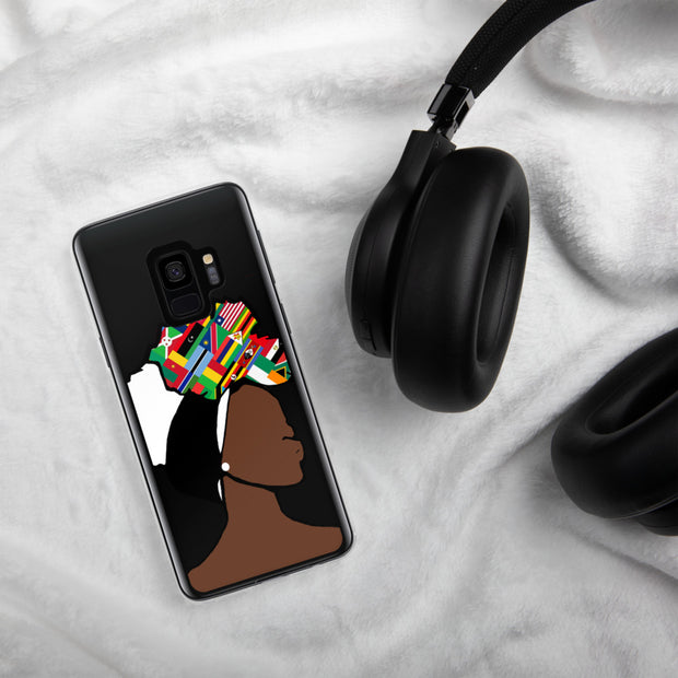 African Countries Head Wrap Queen Samsung Case